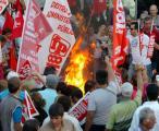 Manifestação de trabalhadores (Foto João Relvas/Lusa)