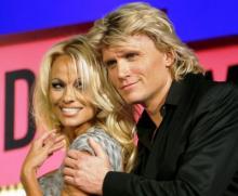 Pamela Anderson e Hans Klok nos MTV VMA 2007 (foto lusa)