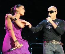 Nelly Furtado e Pedro Abrunhosa em Albufeira (foto de Manuel Lino)